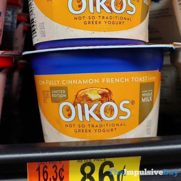 Dannon Oikos Limited Edition Cin fully Cinnamon French Toast Greek Yogurt