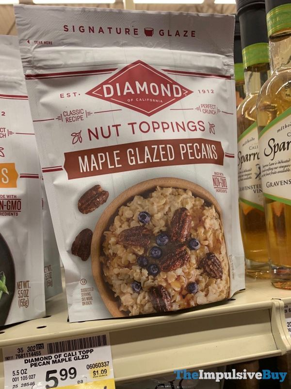 Diamond Nut Toppings Maple Glazed Pecans