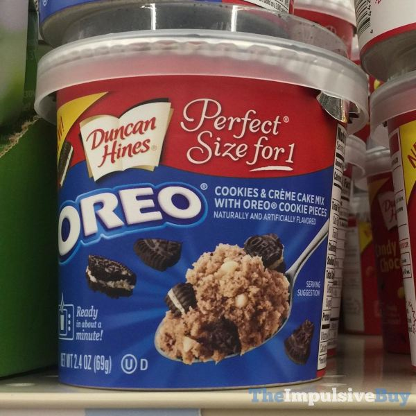 Duncan Hines Perfect Size for 1 Oreo Cookies  Creme Cake Mix