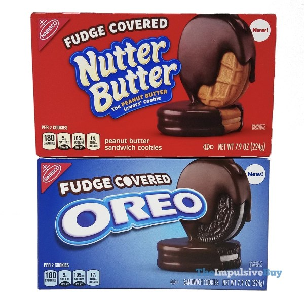Fudge Covered Nutter Butter and Oreo Cookies