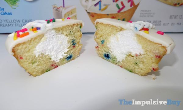 Hostess Limited Edition Birthday CupCakes Innards