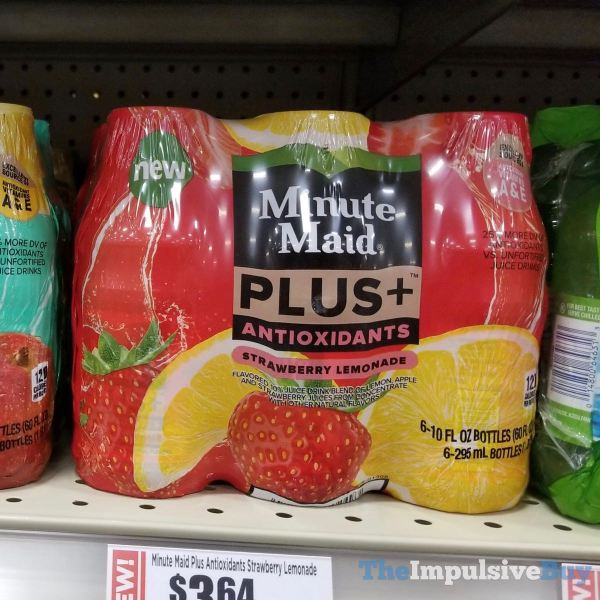 Minute Maid Plus Antioxidants Tropical Lemonade and Strawberry Lemonade  Version 2