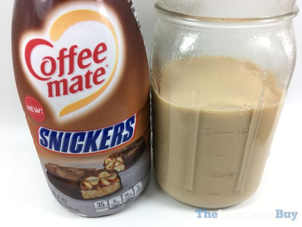 Nestle Coffee mate Snickers Creamer Closeup