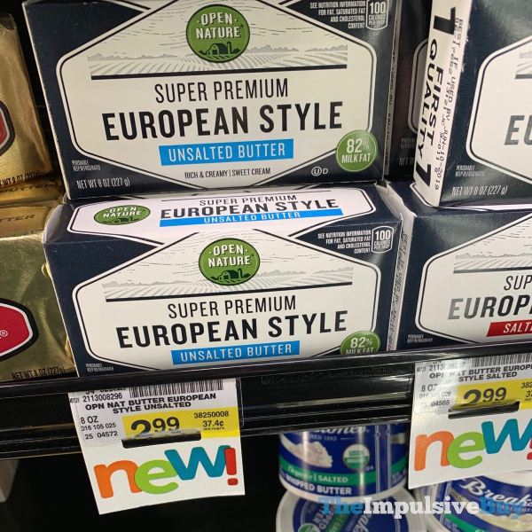Open Nature Super Premium European Style Unsalted Butter