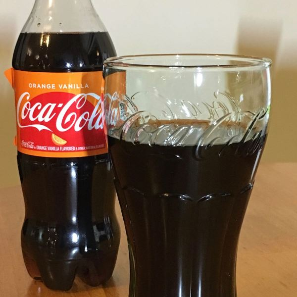 Orange Vanilla Coca Cola in Glass