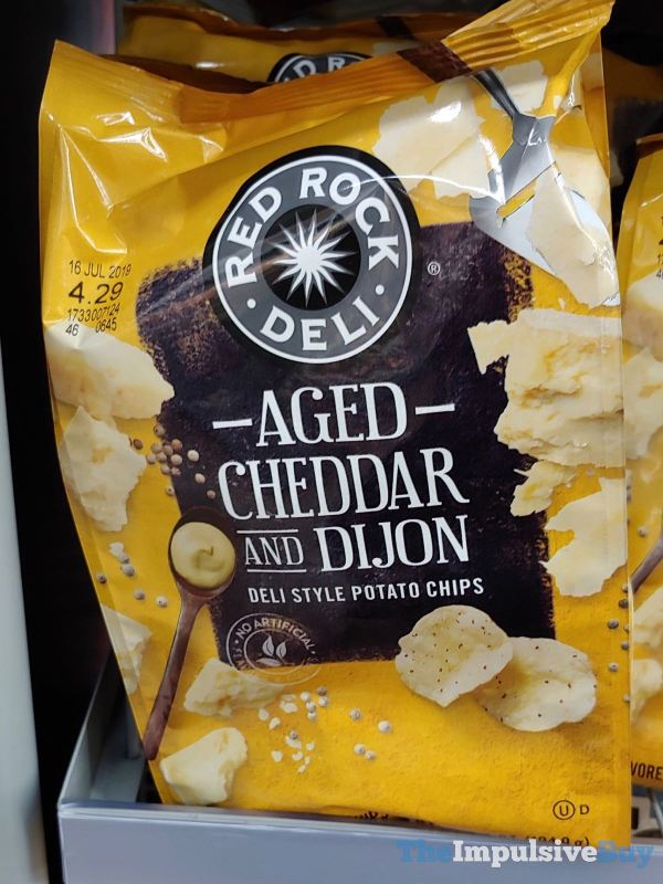 Red Rock Deli Aged Cheddar and Dijon Deli Style Potato Chips