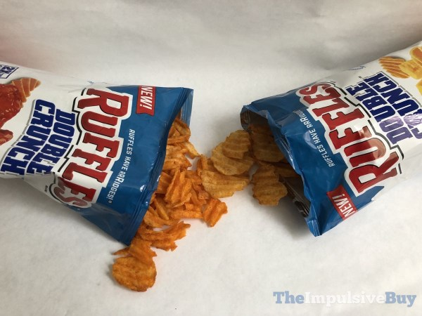 Ruffles Double Crunch Potato Chips Open Bags