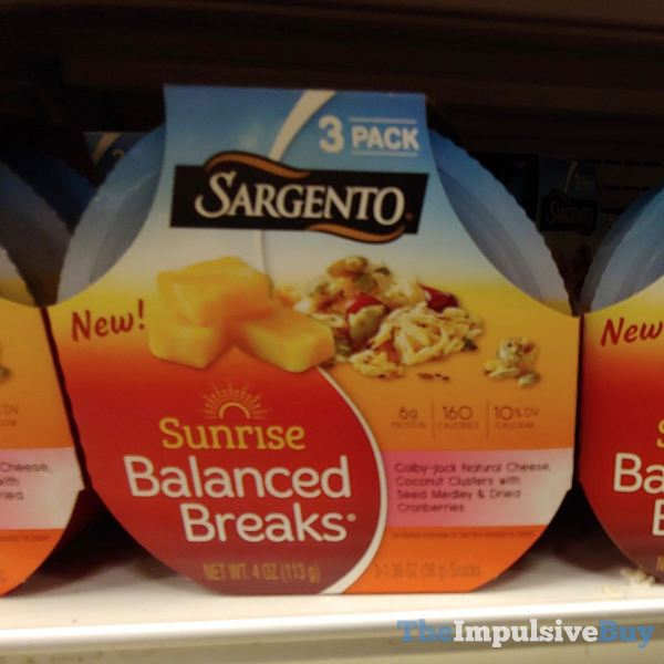 Sargento Sunrise Balanced Breaks Colby Jack Coconut Clusters with Seed Medley  Dried Cranberries