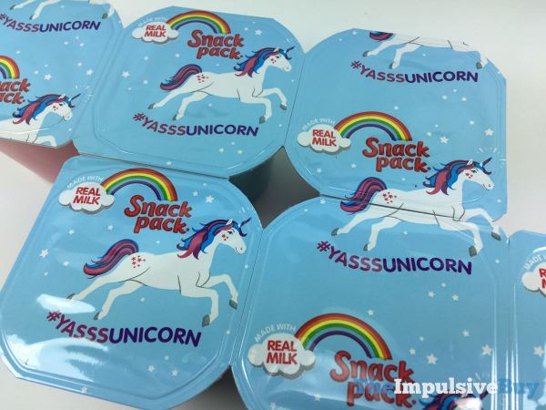 Snack Pack Unicorn Magic Pudding Lid