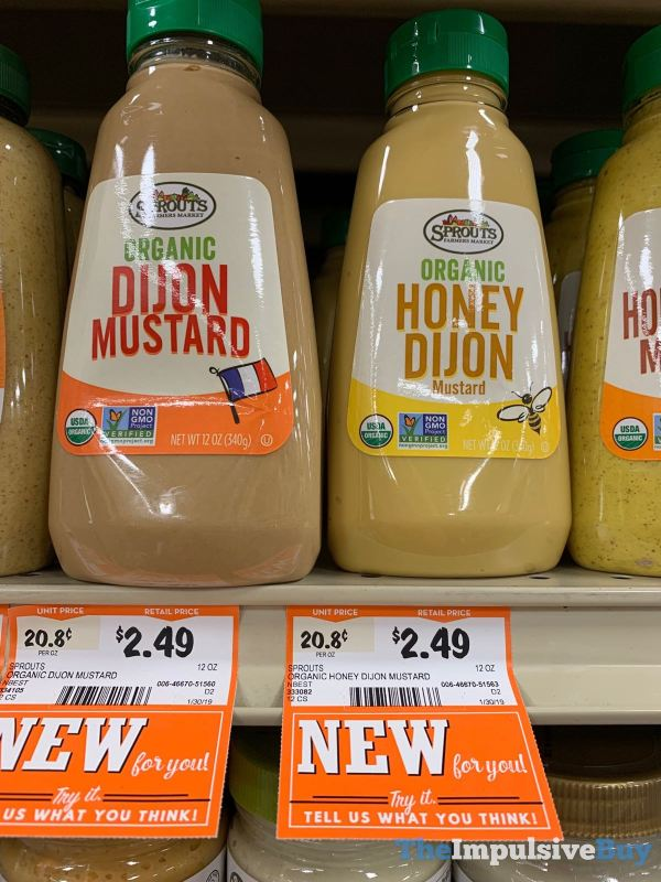 Sprouts Organic Dijon Mustard and Honey Dijon Mustard