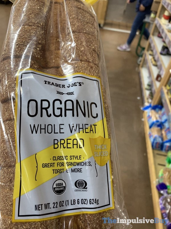 Trader Joe s Organic Whole Wheat Bread Thick Sliced