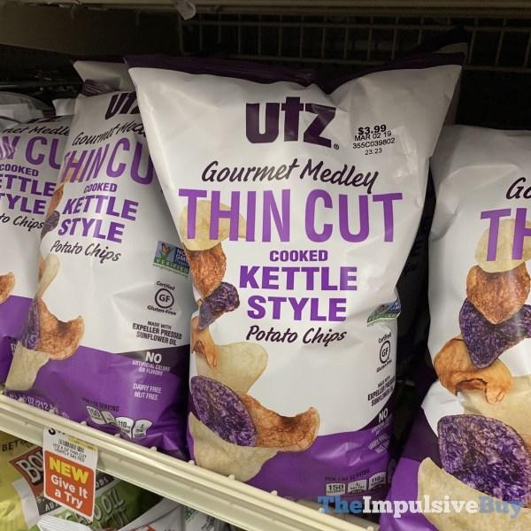 Utz Gourmet Medley Thin Cut Kettle Style Potato Chips