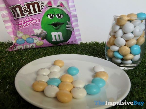 White Chocolate Marshmallow M M s Plated