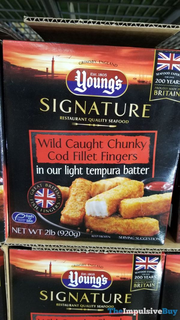 Young s Signature Wild Caught Chunky Cod Fillet Fingers