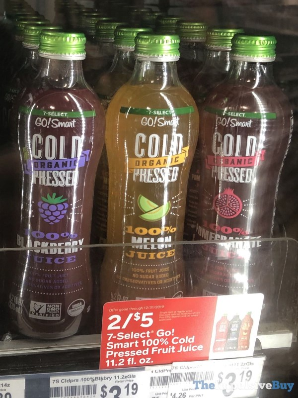 7 Select Go Smart Organic Cold Pressed Juice  Blackberry Melon and Pomegranate