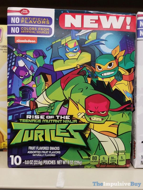 Betty Crocker Rise of the Teenage Mutant Ninja Turtles Fruit Flavored Snacks
