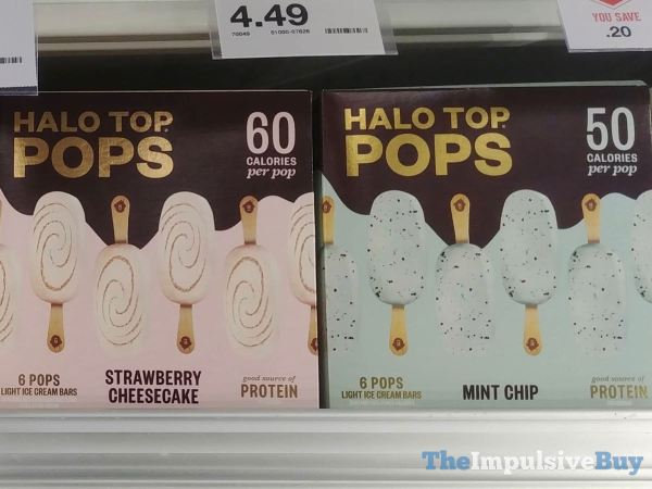 Halo Top Pops Strawberry Cheesecake and Mint Chip