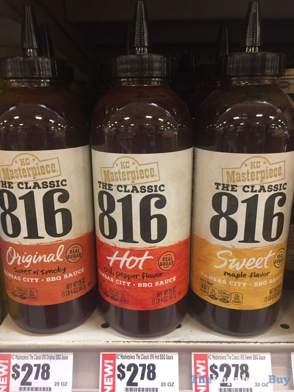 KC Masterpiece The Classic 816 BBQ Sauces  Original Hot and Sweet