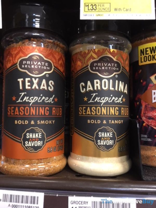 Private Selection Texas Inspired and Carolina Inspired Seasoning Rubs