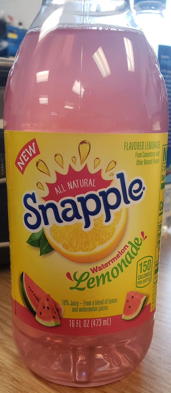 Snapple Watermelon Lemonade 16 Ounce Bottle