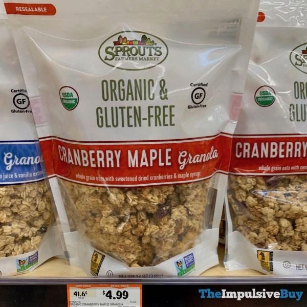 Sprouts Organic  Gluten Free Cranbery Maple Granola