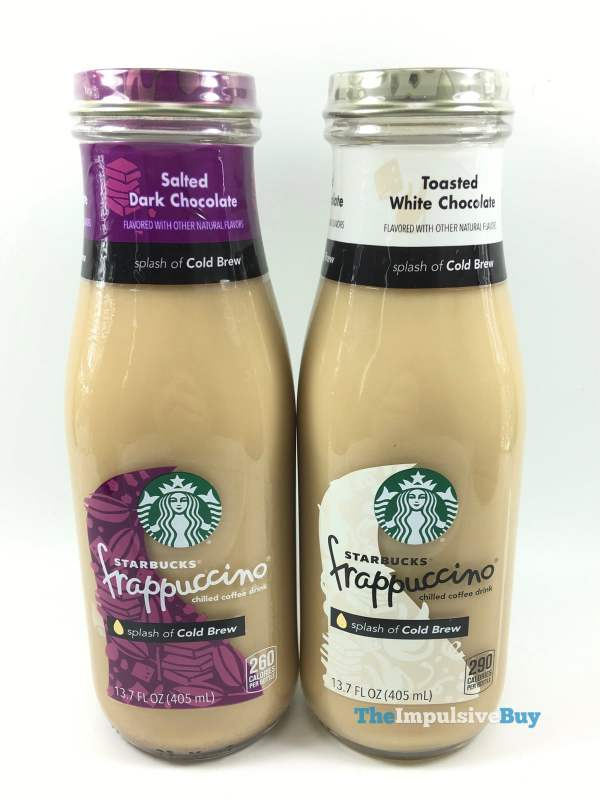Starbucks Frappuccino with Cold Brew  Salted Dark Chocolate and Toasted White Chocolate