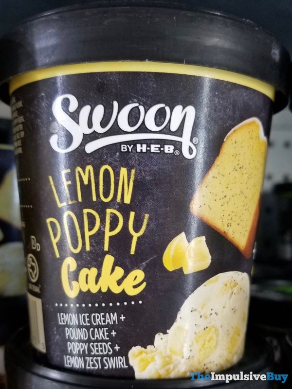 Swoon by H E B Lemon Poppy Cake Ice Cream