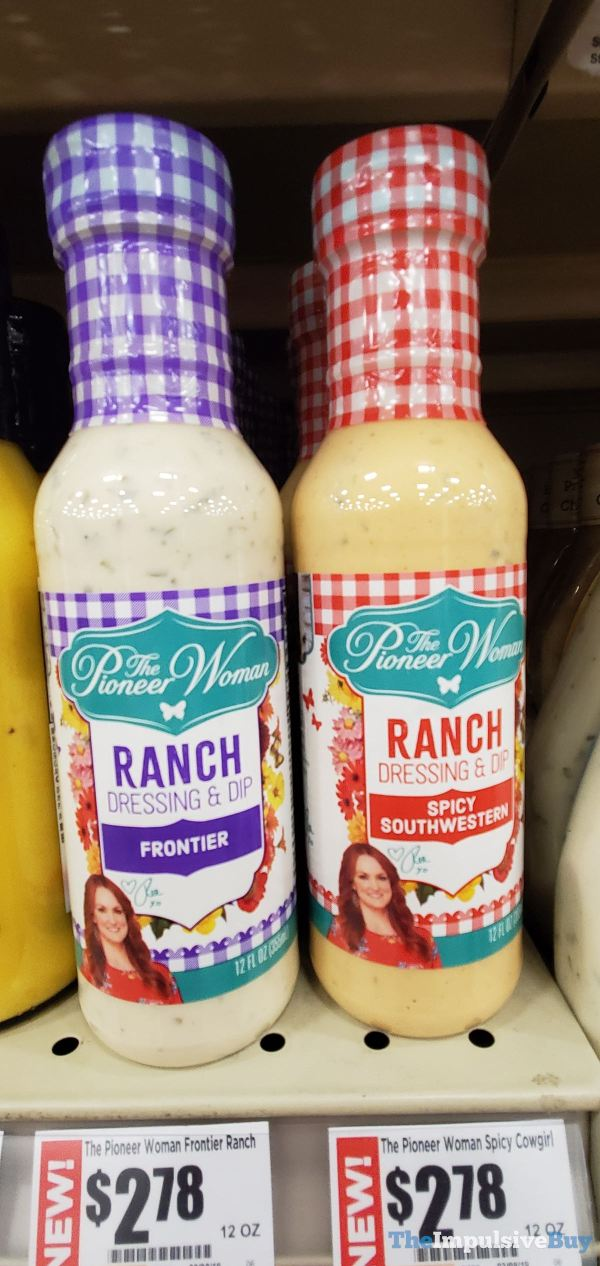 The Pioneer Woman Frontier and Spicy Southwestern Ranch Dressings