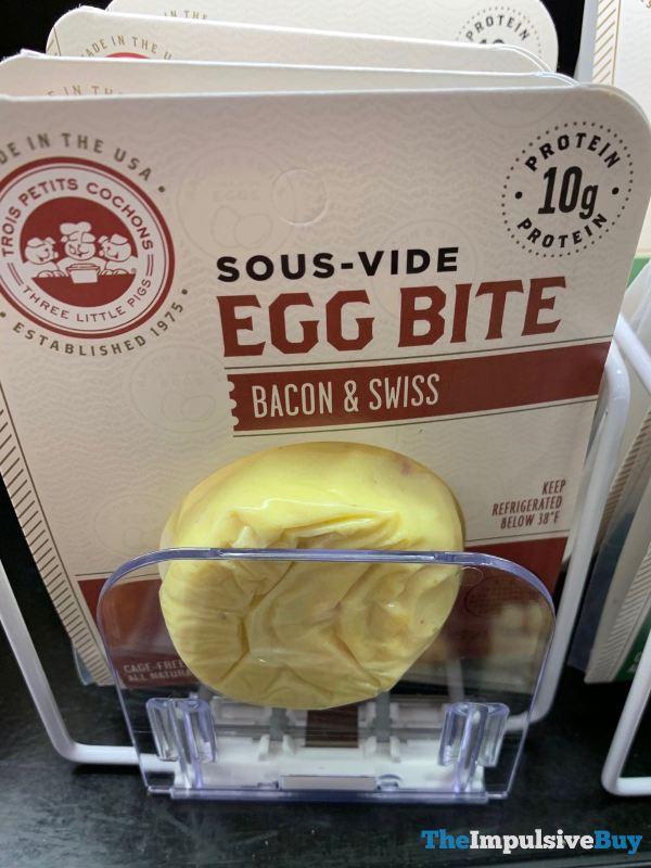 Three Little Pigs Bacon  Swiss Sous vide Egg Bite