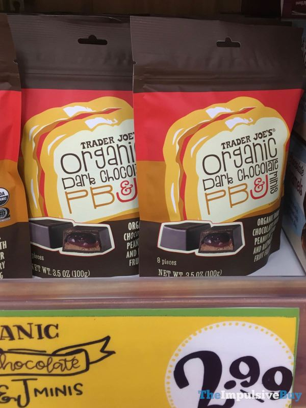 Trader Joe s Organic Dark Chocolate PB J Minis