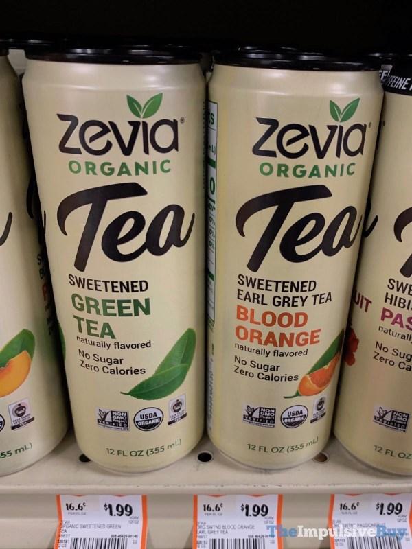 Zevia Organic Tea Sweetened Green Tea and Earl Grey Tea Blood Orange