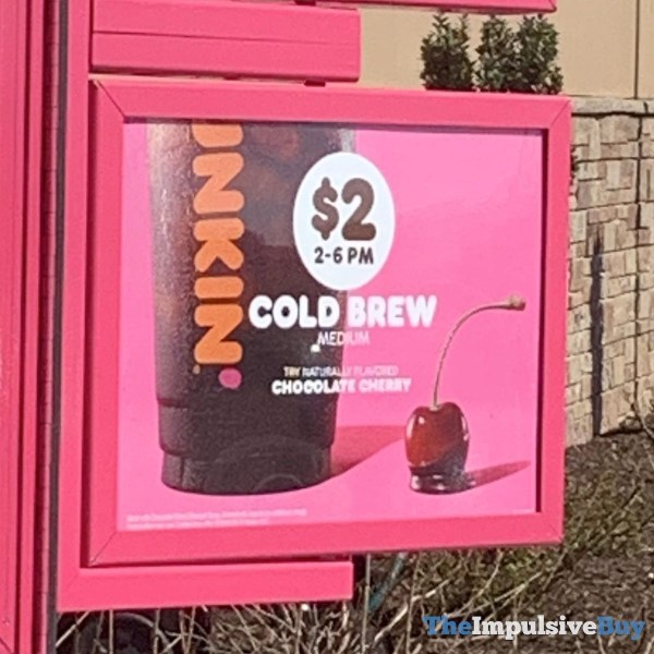 Dunkin Chocolate Cherry Cold Brew