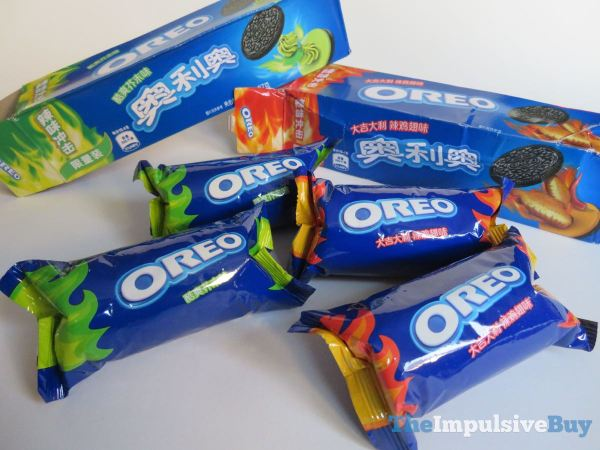 Hot Chicken Wing Oreo Cookies and Wasabi Oreo Content