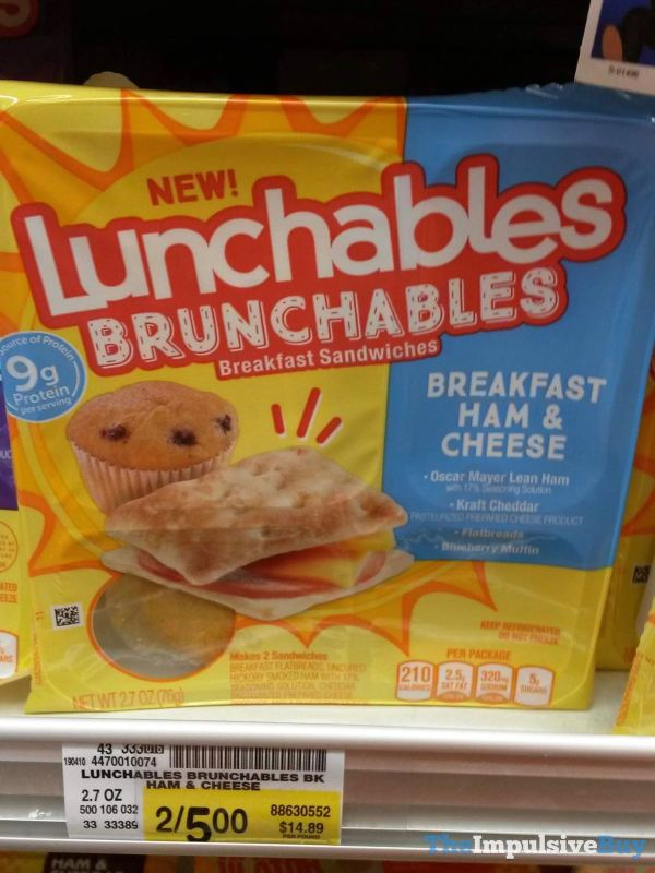 Lunchables Brunchables Breakfast Ham  Cheese Breakfast Sandwiches