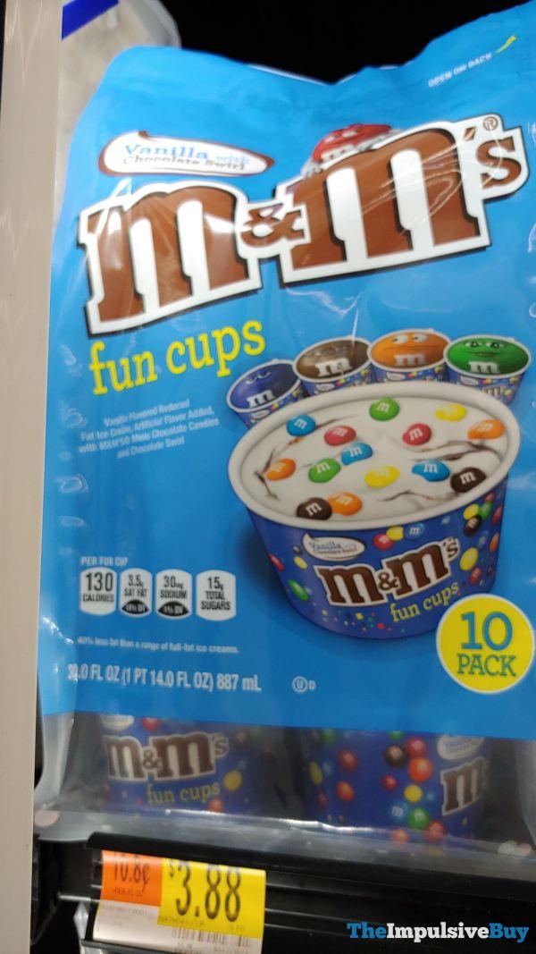M M s Vanilla with Chocolate Swirl Fun Cups