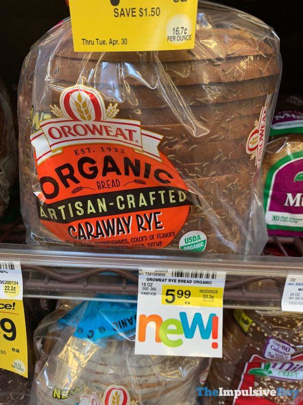 Oroweat Organic Artisan Crafted Caraway Rye Bread