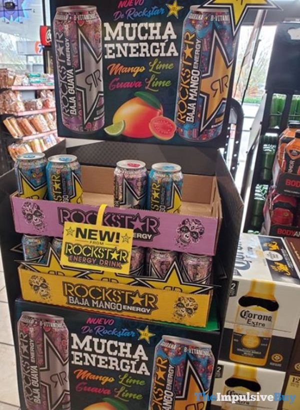 Rockstar Baja Guava and Baja Mango Energy Drinks