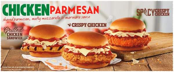Burger King Chicken Parmesan Sandwiches 2019
