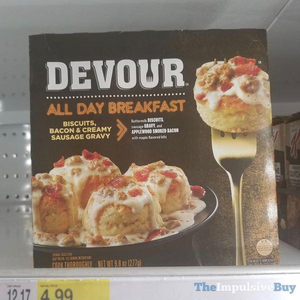 Devour All Day Breakfast Biscuits Bacon  Creamy Sausage Gravy