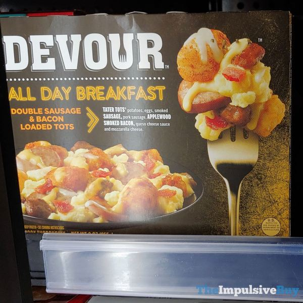 Devour All Day Breakfast Double Sausage  Bacon Loaded Tots
