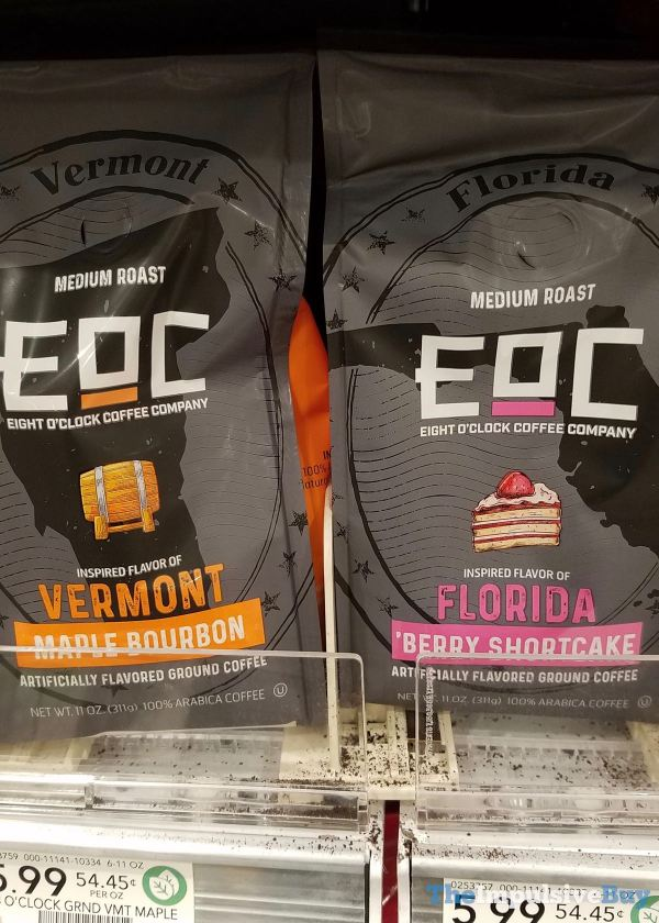 Eight O Clock Coffe Company Vermont Maple Bourbon and Florida Berry Shortcake Coffee