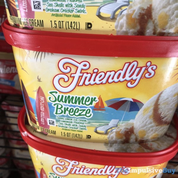 Friendly s Limited Edition Summer Breeze Ice Cream