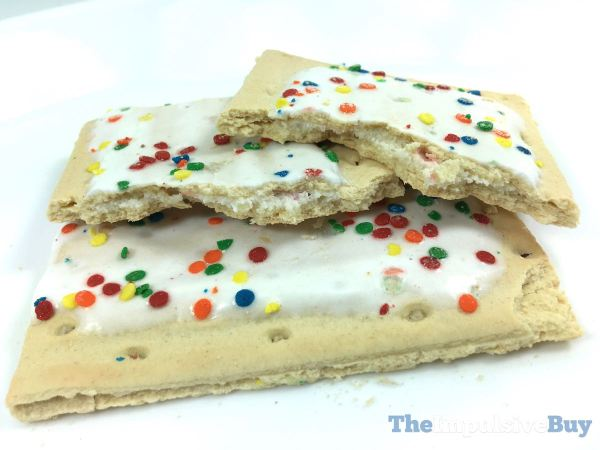 Frosted Confetti Cupcake Pop Tarts Innards