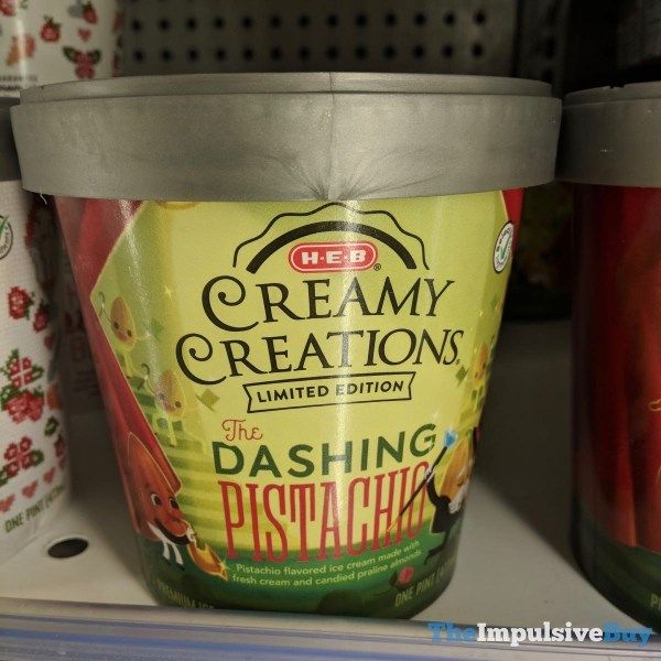 H E B Creamy Creations Limited Edition The Dashing Pistachio Ice Cream
