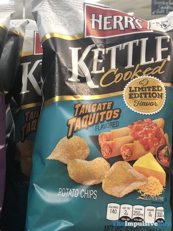 Herr s Kettle Cooked Tailgate Taquitos Potato Chips