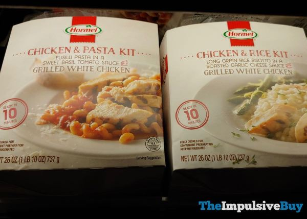 Hormel Chicken  Pasta Kit and Chicken  Rice Kit