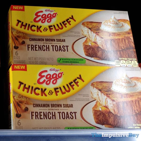 Kellogg s Eggo Thick  Fluffy Cinnamon Brown Sugar French Toast