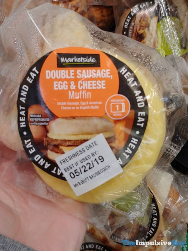 Marketside Double Sausage Egg  Cheese Muffin