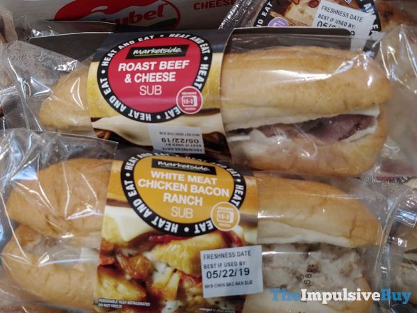 Marketside Roast Beef  Cheese and White Meat Chicken Bacon Ranch Subs