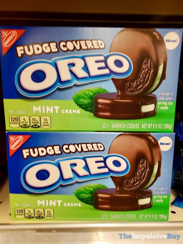 Mint Fudge Covered Oreo Cookies